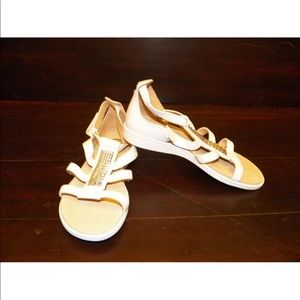 New Kids UGG Nikelle White Gladiator Flat Sandal